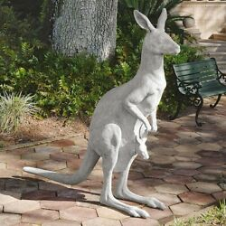 Australian Marsupial Statue Kangaroo With Joey In Pouch Outback Garden Sculpture