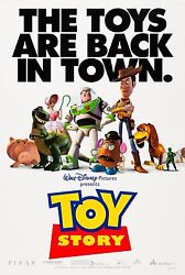 Toy Story 1995 Original Movie Poster -the Toys Are Back In Town Style 2-sided