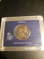 Apollo 11 Footsteps On The Moon Medal Rare Vintage Neil Armstrong