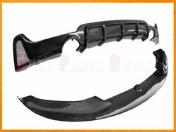 P Style Carbon Front Lip W/ Diffuser For 14-18 Bmw F32 F33 F36 428i 435i M-sport