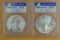 2013-w Silver Eagle West Point Mint Set Mike Standish Signed Fs- Pcgs Ms70/pr70