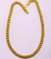 Certified 22kt Yellow Gold Necklace Link Chain Amazing Design Stylish Jewelry