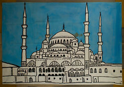 Wall Art, Huge Art, Pop Art On Canvas, Cool Paintings, India, Backdrop, Mosque