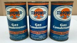 3 Vintage Sta-power Gas Conditioner Cans
