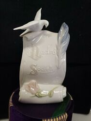 Lladro Society 1998 Arts Bring Us Together Scroll/dove/rose Collector Sign 7677
