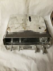 Wards Riverside 4/8 Track Car Stereo Tape Player Chrome For Parts See Descript