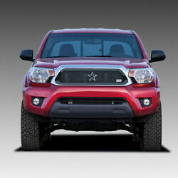 Rbp Rx-1 2012-2015 Toyota Tacoma Black Stainless Steel Frame Mesh Grille Grill