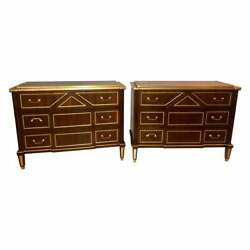 Pair of Russian Neoclassical Style Commodes  Bedside Nightstands or Servers