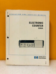 Hp 05345-90025 5345a Electronic Counter Operating And Service Manual