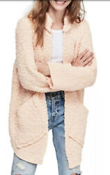 Free People Waterfront Cardigan Open Front Sweater Cute Cozy Jacket S 168