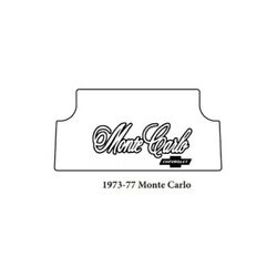 Trunk Floor Mat Cover For 73-77 Chevy Hi-definition Rubber W/g-019 Monte Carlo