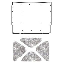 Hood Insulation Pad Cover For 1967 Chevrolet Acoustihood Kit Smooth