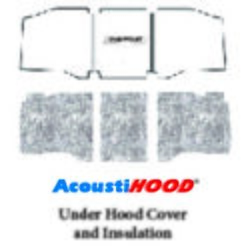 Hood Insulation Pad Heat Shield For 60-66 Chevy Truck Under Cover W/g-010 Bowtie