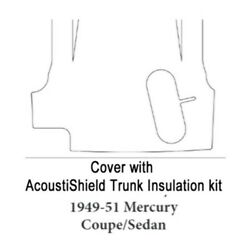 Trunk Floor Mat Cover And Insulation For 1949-1951 Mercury With Acoustishield Kit