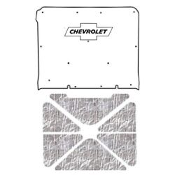 Hood Insulation Pad Cover For 1969-1970 Chevrolet W/g-010 Chev Bowtie