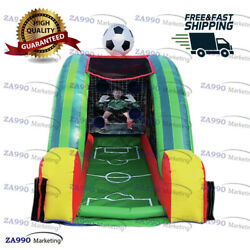 10x6.6ft Inflatable Football Toss Sport Soccer Game Carnival With Air Blower