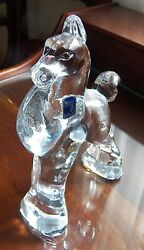 Heisey By Imperial 8 Inch Filly Head Forward Clear Excellent Free Shipping