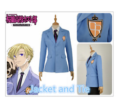 In Stock Jacket And Tie Only Ouran High School Blue Uniform Cosplay Costumehot