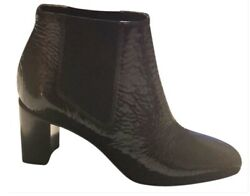 Rag And Bone Womens Block Heel Black Patent Ankle Boots/booties Leather Size 8