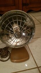 Kenmore Space Heater Dish W/wire Cage Retro Mid Century Modern Antique