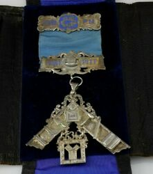 Vintage Sterling Masonic 53rd Past Master Fort Pitt Lodge 634 Case Included