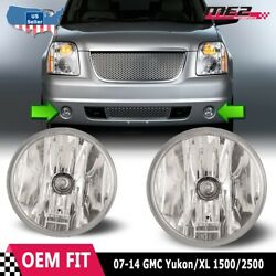 For Gmc Yukon 07-14 Bumper Driving Fog Lights Lamps Replacement Pair Clear