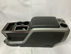 2012 F150 Lariat Crew Cab Front Floor Console And Lid Assembly Used Floor Shift