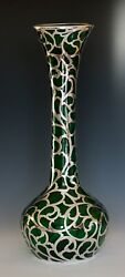 Alvin Co. Sterling Silver Overlay 14 Vase Excellent Condition Ca. 1898 - 1911