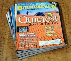 BACKPACKER Magazine • 2002 • Lot of 9 issues Complete Year $11.99