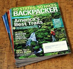 BACKPACKER Magazine • 2009 • Lot of 9 issues Complete Year $11.99