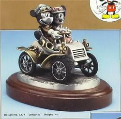 Disney Sunday Drive Mickey And Minnie Model T Car Pewter Le 350