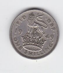 1949 Uk Great Britain One Shilling Coin C-512
