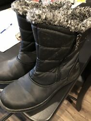 womens totes winter boots Size 7 EUC Black $8.99