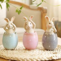Home Easter Kids Party Ornaments Happy Easters Bunny Cute Gifts Decors 3pcs/lot