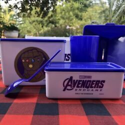Bento Lunch Box Food Container Microwave Wheat Straw Avengers Accessories Set