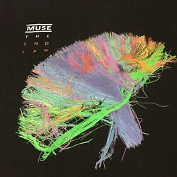 Muse Large Black T-shirt The 2nd Law North America 2013 Tour Hard Rock Band