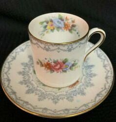 Vintage Shelley Crochet Cup And Saucer Demitasse Chocolate