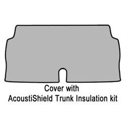 Trunk Floor Mat Cover And Insulation For 1971-73 Ford Mustang W/acoustishield Kit