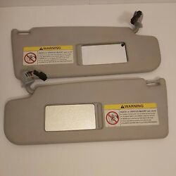 1999 Vw Passat Left And Right Sun Visor Mirror With Wiring Clip