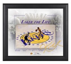 Kobe Bryant Los Angeles Lakers Framed 15 X 17 Final Game Signed Facsimile