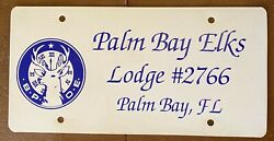 1990and039s Palm Bay Elks Lodge 2766 Palm Bay Florida Booster License Plate