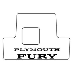 Backorder Only Trunk Floor Mat Cover For 1975-78 Plymouth Fury Hi-def. Rubber,