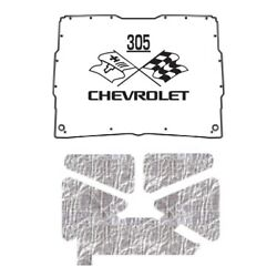Hood Insulation Pad Heat Shield For 1952-1993 Gmc Sonoma Under Cover W/ceid-305