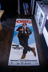 Oss 117 Lost In Rio Very Rare Giant D/s Theater Cardboard Standee In Box 2009