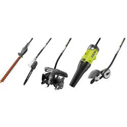 Ryobi Expand-it Edger, Hedge Trimmer, Blower, Pruner And Cultivator Attachment
