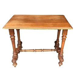Nineteenth Century French Walnut Library Table