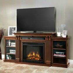 Real Flame Calie Tv Stand With Electric Fireplace In Dark Espresso