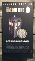 2013 $2 DOCTOR WHO 1oz Fine Silver Proof Coin Set - 50th Anniversary w Tardis