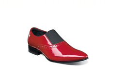Stacy Adams Menand039s Vale Tuxedo Plain Toe Red Patent Slip On Shoes 25192