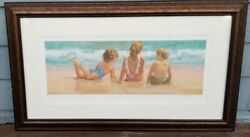 """Lucelle Raad """"lazy Days Seriolithograph Pencil Signed Le 4/100 S Framed"""